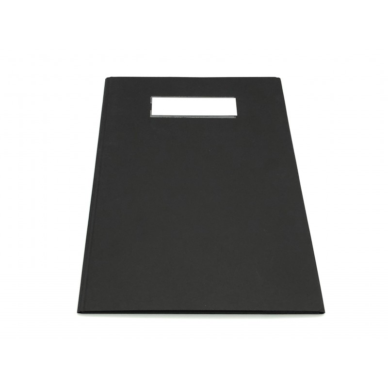Folders with three flaps closure with A4 size magnet - equipped with label holders