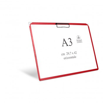 Notepad holder with horizontal spring A3