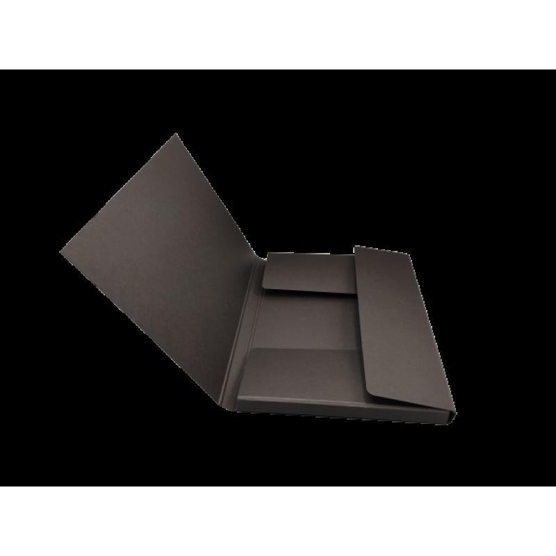 Cartella portadisegni in cartone nera a tre lembi formato A3