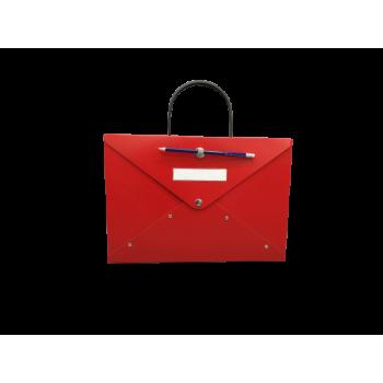 Cardboard briefcase with handle