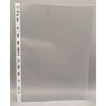 PPL embossed bags for A4 vertical sheets with universal perforation, high thickness