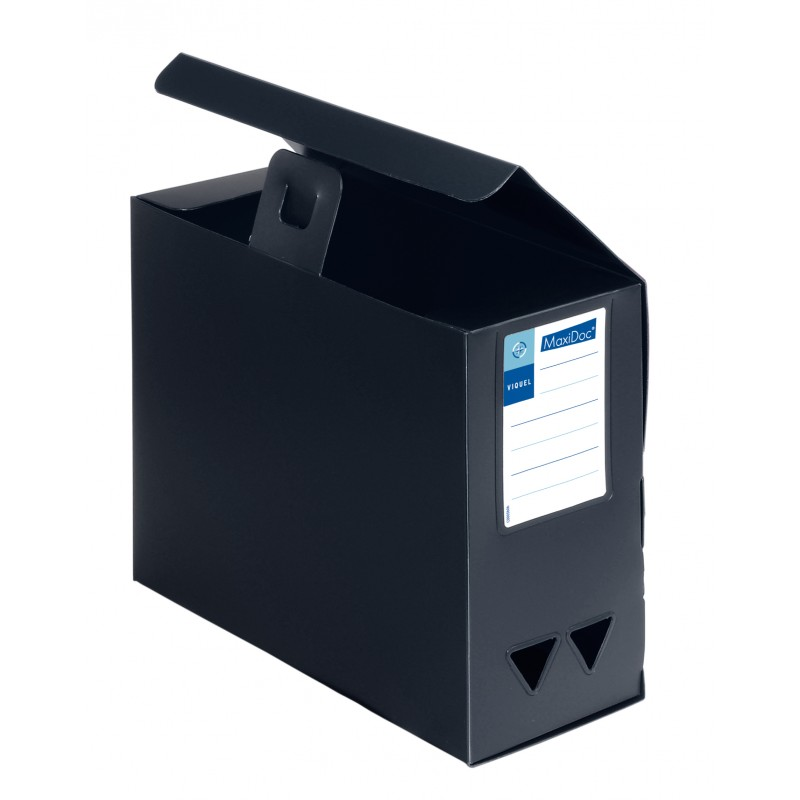 Contenitori nero total black maxi capienza in polipropilene (contenitori alta capacità).