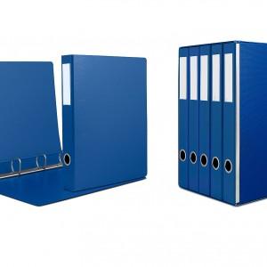 Gruppo da 5 raccoglitori a 4 anelli dorso cm 4,5. Portaetichette sul dorso completo di cartoncino per agevole suddivisione del contenuto.