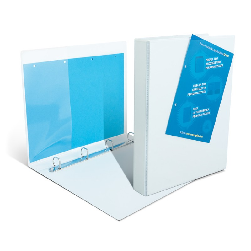 Binders with transparent pockets - 4 back rings 5.5 cm