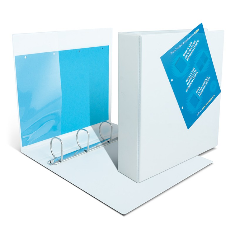 Binders with transparent pockets - 4 back rings 7.5 cm