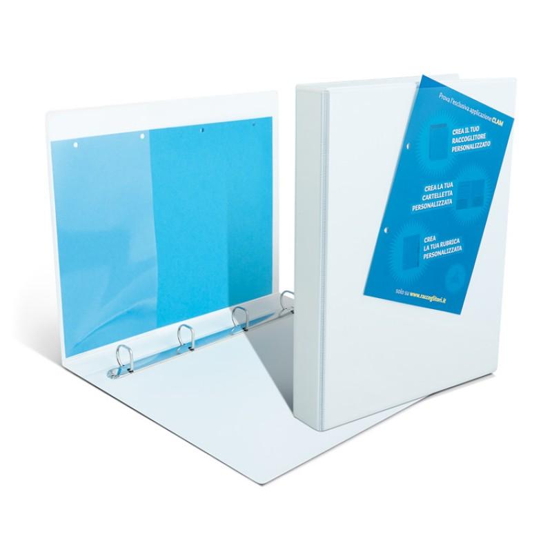 Video binders A4 model 4350 / V4 with transparent pockets - back 4 cm rings 3.5