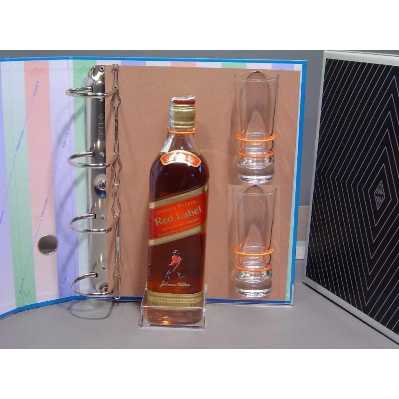 Ring binder for Johnnie Walker whiskey bottle